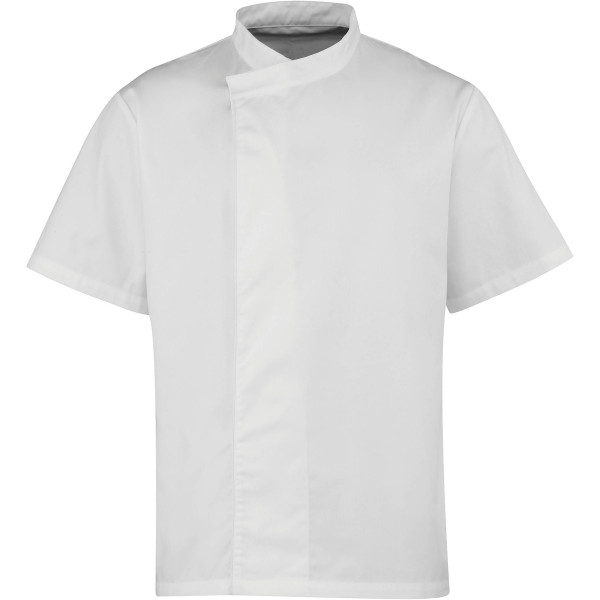 Culinary' pull-on chefs short sleeve tunic