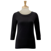 Stretch Top met 3/4 mouwen
