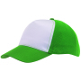 5-panel truckercap BREEZY - donkergroen, wit