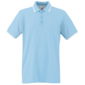 Premium tipped polo shirt (63-032-0) sky blue / white l
