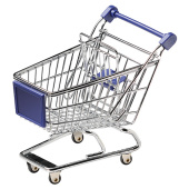 Miniature shopping cart, silver
