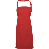 Colours bib apron with pocket red one size