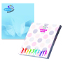 68 mm x 75 mm 100 Sheet Adhesive Notepads White paper