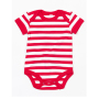 Baby Stripy Rompertje 0-3 Monate Red/Washed White