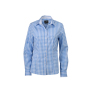 Ladies' Checked Blouse gletsjer blauw/wit
