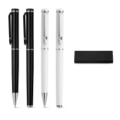 CALIOPE SET. Roller pen and ball pen set in metal