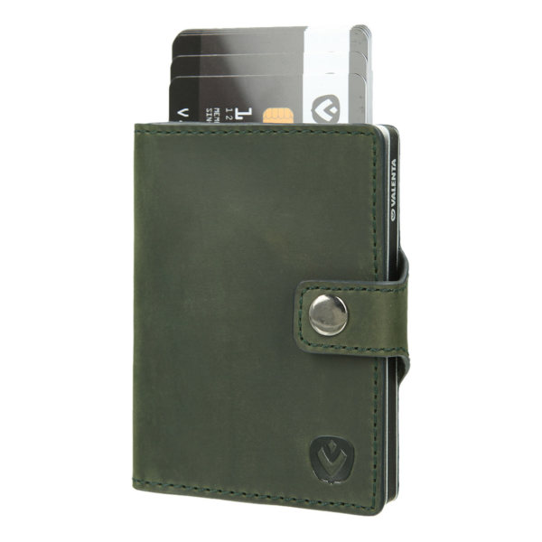Valenta Card Case Wallet Aluminium Green