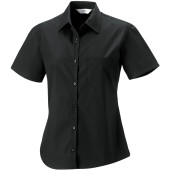Ladies' ss pure cotton easy care poplin shirt