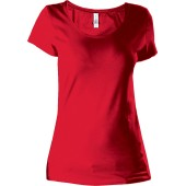 Dames t-shirt met mini-mouwtjes red xxl