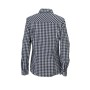 Ladies' Checked Blouse zwart/wit