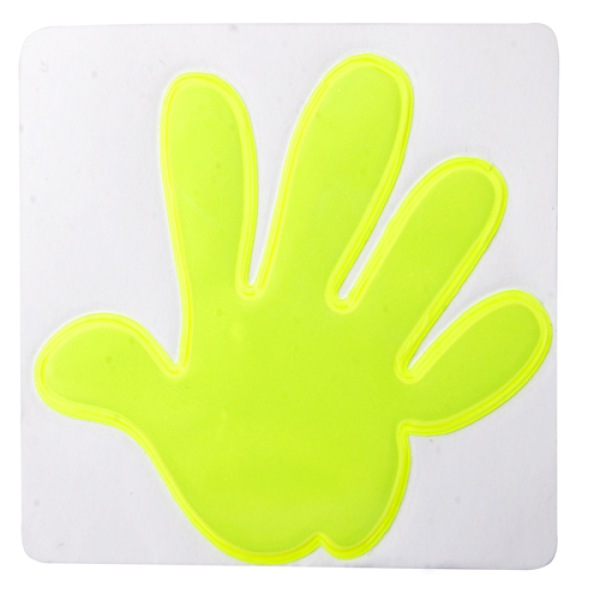 reflector sticker hand
