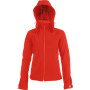 Dames afneembare hooded softshell jas red 4xl