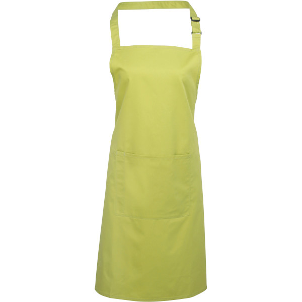 Colours bib apron with pocket