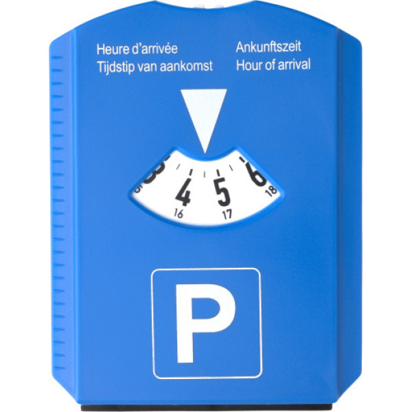 Plastic 2-in-1 parking disc