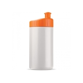 Sportbidon design 500ml - Wit / Oranje