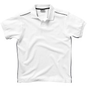 Backhand heren polo met korte mouwen - Wit - S