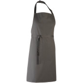 Colours bib apron dark grey one size