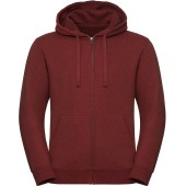 Authentic full zip hooded melange sweatshirt brick red melange 3xl