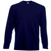 Valueweight long sleeve t (61-038-0) deep navy m