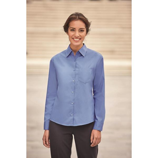 Ladies Longsleeve Classic Pure Cotton Poplin Shirt