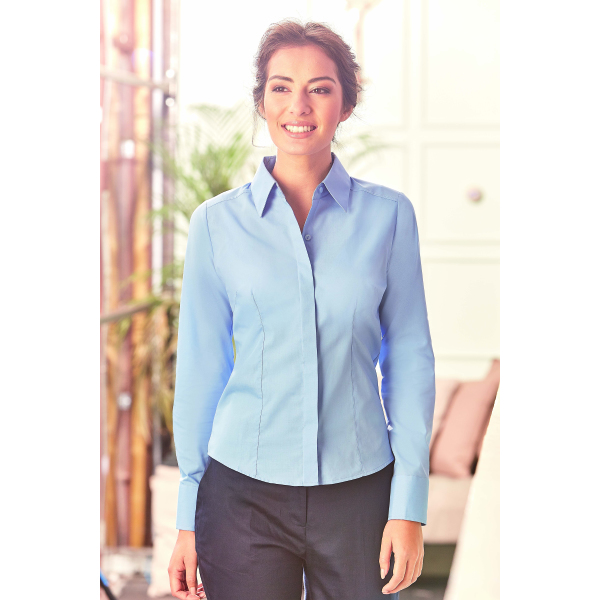 Ladies Fitted Poplin Shirt LSL