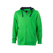 Men's Lifestyle Zip-Hoody - groen/navy