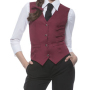 Ladies Vest Lena 40 Bordeaux (ca. Pantone 209C)
