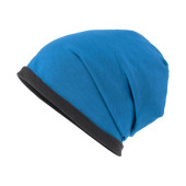 Fleece Beanie - felblauw/carbon