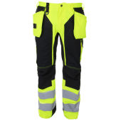 PROJOB 6513 PANTS HV YELLOW/BLACK C48