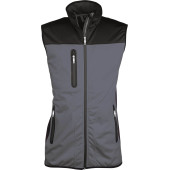 Ladies' bi-colour softshell bodywarmer