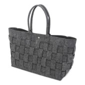 Felt Shopper Braided Anthracite