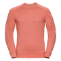 Adults HD Raglan Sweat, Coral Marl, XXL, RUS