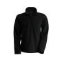 Enzo - fleece met ritskraag black 4xl