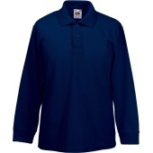 65/35 kids' long sleeve polo shirt deep navy 3/4 y (3/4 ans)