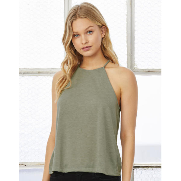 Women's Flowy High Neck Tank