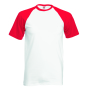 Valueweight SS Baseball T, White/Red, 3XL, FOL