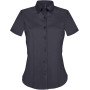 Dames stretch blouse korte mouwen navy s
