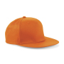 5 Panel Snapback Rapper Cap - Orange