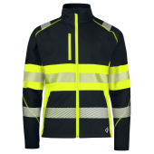 PROJOB 6443 SOFTSHELL JACKET HI VIZ YELLOW/BLACK XS
