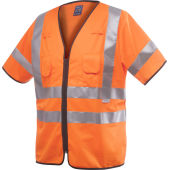 6707 VEST HV CL.3 ORANGE EN ISO471 L/XL