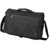 Deluxe 15.6'' laptop messenger - Zwart
