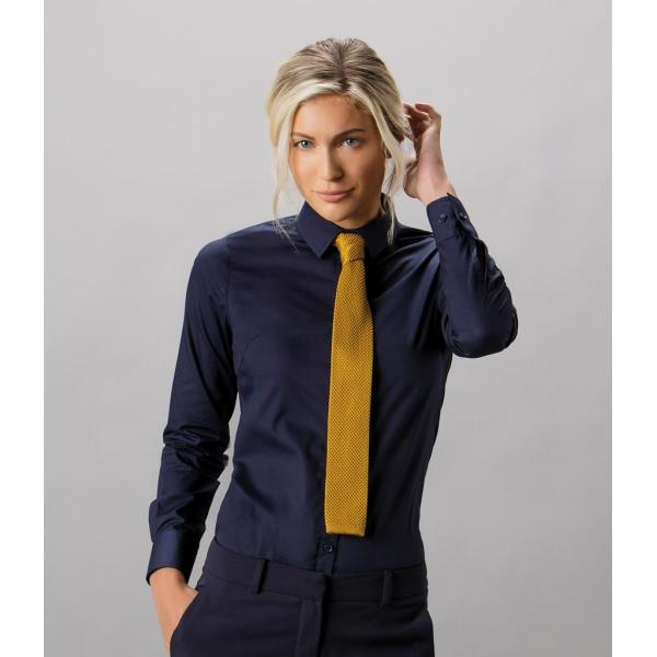 Ladies Long Sleeve Tailored Poplin Shirt