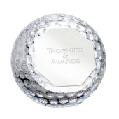 Golf Trophie ORB Golf Glass Paperweight 10,25cm