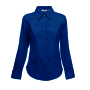 Lady-Fit longsleeve Oxford Shirt, Navy, M, FOL
