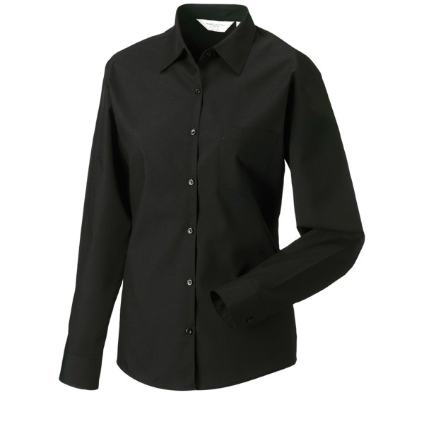 Ladies' ls polycotton poplin shirt