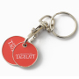 H-920 Keyholder In Silver Finishing With Set Coins (Logo Soft Enameling and Printing)