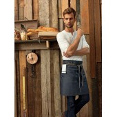 Division - waxed look denim waist apron