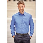 Men's ls pure cotton easy care poplin shirt