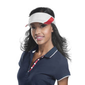 Sportzonneklep white / red one size
