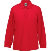 65/35 kids' long sleeve polo shirt red 12/13 y (12/13 ans)